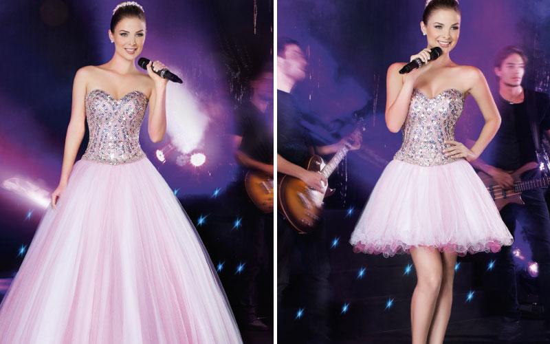 No momento da valsa a debutante costuma utilizar um modelo de vestido de  baile, em geral, com bastante volume, o que dá um efeito lindo no momento  da valsa. 8ec0e3996a